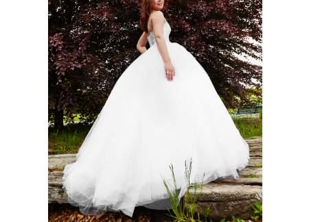 Suknia ślubna Obszerna Księżniczka Violi Piekut Zdobiony Gorset Xs