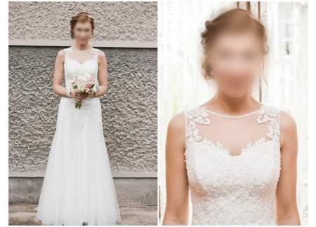 Koronkowa Suknia ślubna Retro Lata 20 Częstochowa