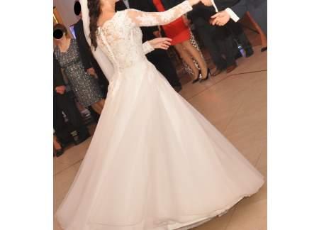 Suknia ślubna Rozmiar 3638 Długi Rękaw Koronka Tiul Toruń