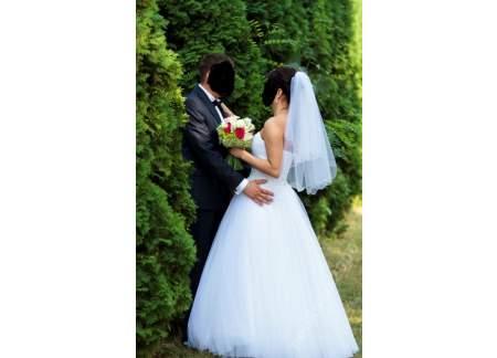 Suknia ślubna Biała Księżniczka Rozmiar 38 Jędrzejów Jędrzejów