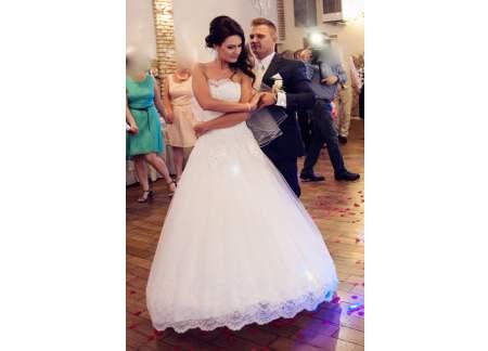 Biała Koronkowa Suknia ślubna Princessa Welon Gratis Gliwice