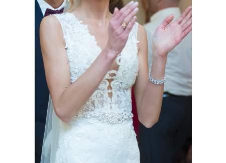 Sprzedam Bajeczną Suknię ślubną Edith Madonna Z Odkrytymi Plecami