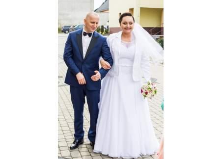 1fc625178d Suknia ślubna 46-48 szyta na miarę (Kędzierzyn-Koźle)