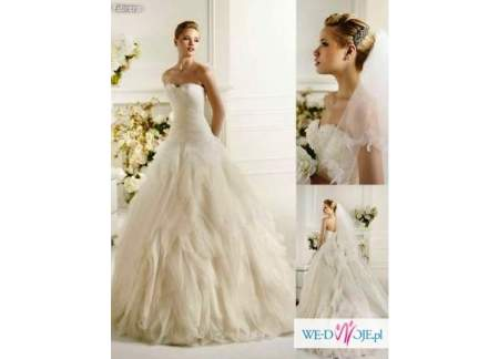 Hiszpańska Suknia ślubna Madonna Kolekcja Avenue Diagonal Pronovias