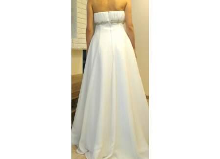Suknia ślubna Biała Odcinana Pod Biustem R 3840 Empire Grecka