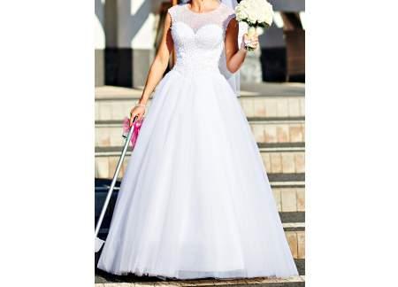 Suknia ślubna Xs 34 Biała Kryształki Gorset Księżniczka Piękna