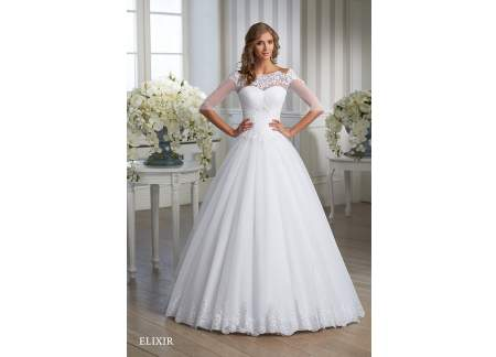 Suknia ślubna Elixir Nowa Kolekcja Ksiezniczka Odkryte Ramiona