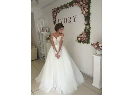 9e88893a64 NOWA ekskluzywna suknia ślubna gołe plecy tren księżniczka 36 38 Głogów