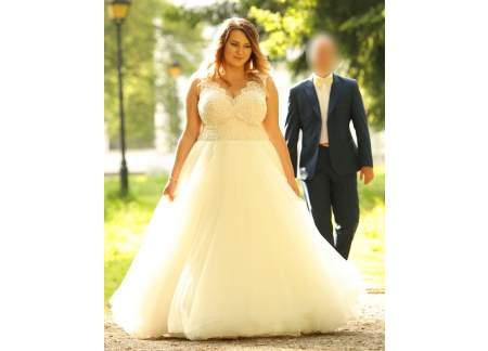 6a70bf0b34 Suknia ślubna Afrodyta Sensual PLUS SIZE r. 44 46 48 (Ciechanów)