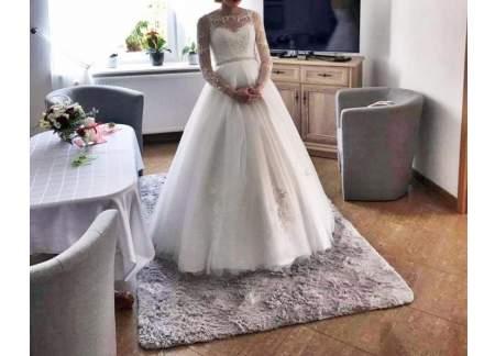 f47c54d032 Śmietankowa suknia slubna ! (Piaseczno )
