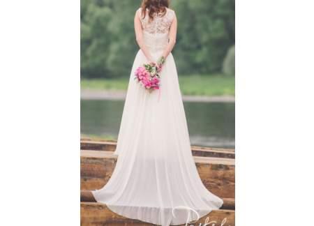 0f231496b2 Muślinowa suknia ślubna 34   36 (Legionowo)