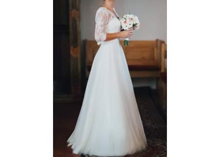 170d06cd18 suknia firmy margarett model honorata 34   36 (Wrocław)