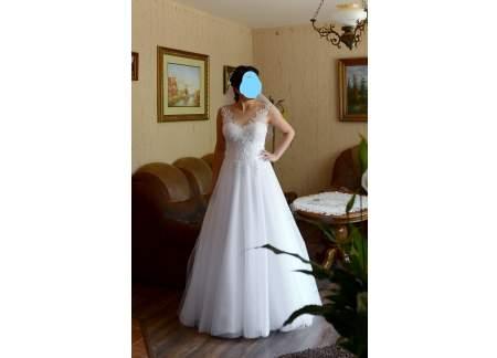 06c62d4d7d Przepiękna suknia ślubna princessa r. 38 40 (Rybnik)