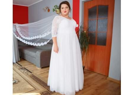 e34188e4f3 Suknia ślubna plus size 46-48-50 (Wołomin)