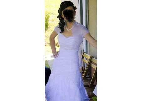 85b86974bf Biała suknia ślubna