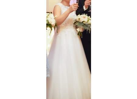 6d3ad184af Suknia ślubna Marisol Afrodyta + welon + wpinka do włosów (Piaseczno)