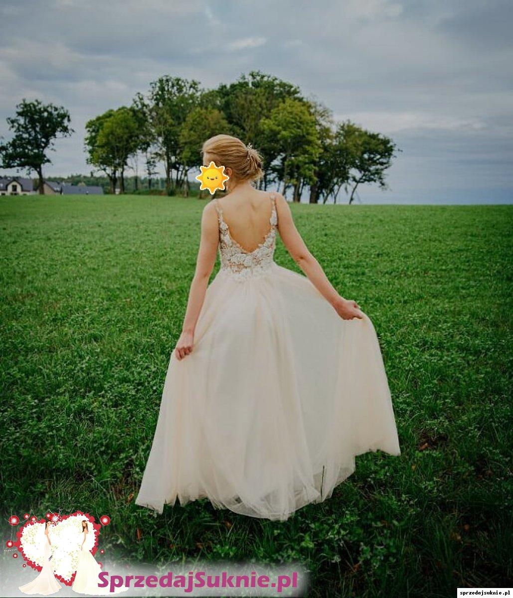 Suknia ślubna z welonem, grzebykiem i kolczykami - GDAŃSK