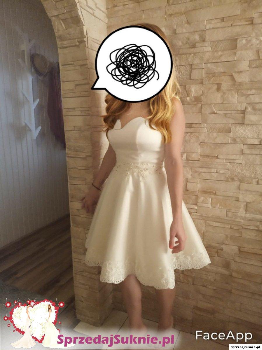 Cudowna wygodna suknia ślubna nowa tylko zmierzona