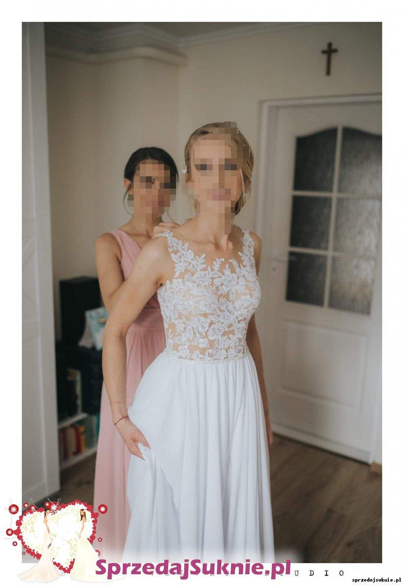 Lekka i wygodna suknia ślubna