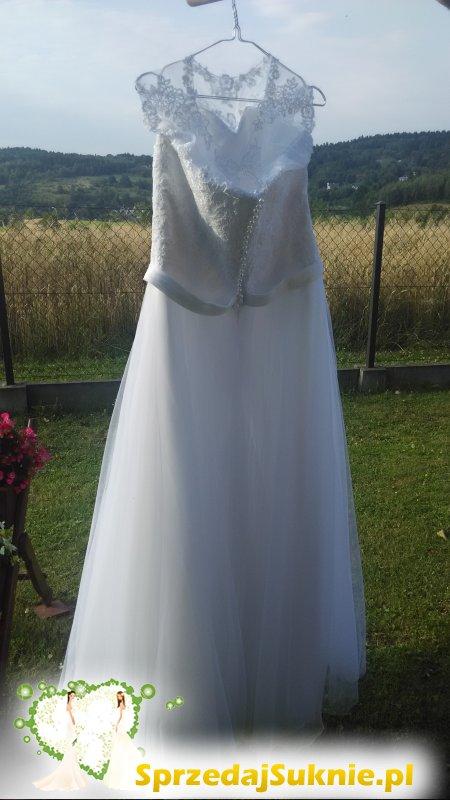 Suknia ślubna biała, Model: Tendre 2016 z salonu Afrodyta Krosno