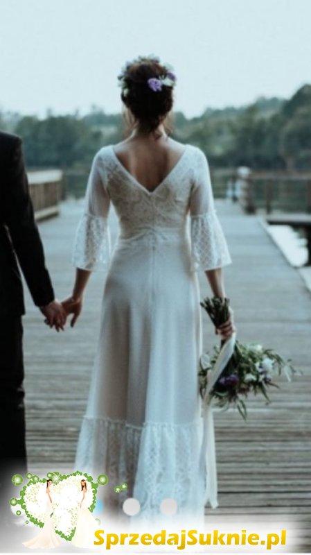 Suknia ślubna w stylu BOHO / RUSTYKALNYM