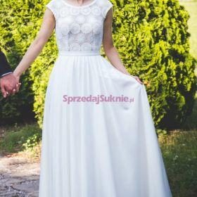 Suknia ślubna boho Juliarosa długi welon gratis