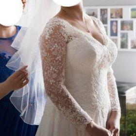 Suknia Agnes - ręczne zdobienie, muślin