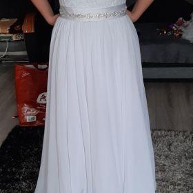 Suknia slubna biala litera A