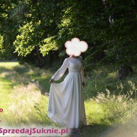 Suknia ślubna boho rustykalna romantyczna vintage 36