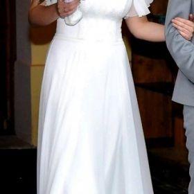 Piękna prosta suknia AGNES (rozm.ok 38) + dodatki