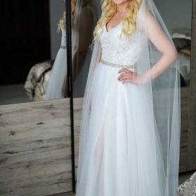 Suknia ślubna rozmiar 36 gratis długi welon