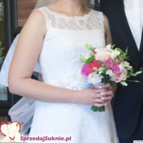 Suknia ślubna długa + bolerko