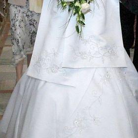 Suknia ślubna w kolorze ecru (z halką gratis)!