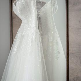 Suknia ślubna bufiasta litera A