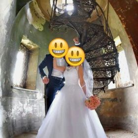 Przepiękna suknia ślubna rozmiar 36-38
