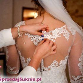 Wyjątkowa Suknia Ślubna Adesso Bianka Ecru Rozmiar 44 Sukienka Zobacz!