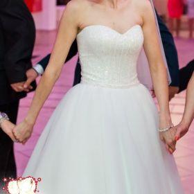 Suknia ślubna, princessa, stan idealny, rozm. 36, Ivory/mleczna biel