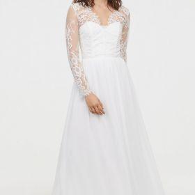 Suknia ślubna z welonem H&M - GDAŃSK
