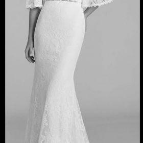 Suknia ślubna boho rustykalna, kolor ivory, rozmiar 36 172+5cm