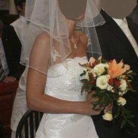 Przepiękna suknia Ślubna Stan idealny rozmiar 36 na wzrost 174 szyta na wzór - na żywo jeszcze piękniejsza polecam serdecznie
