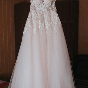 Suknia ślubna kwiatuszki tiul urocza