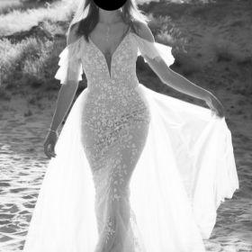 Suknia ślubna-bardzo dokładne wymiary, koronkowa, odpinana tiulowa spódnica