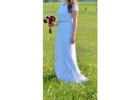 Sprzedam piękną suknię ślubną - projekt indywidualny