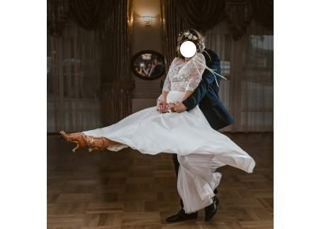 Rustykalna, zwiewna suknia ślubna Amanda 34/36