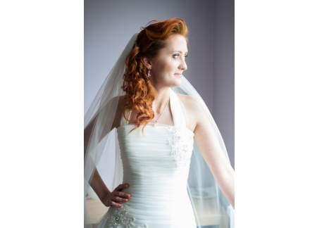 Suknia ślubna ecru 36+ (możliwość regulacji - gorset)