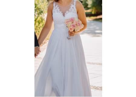Biała suknia ślubna La Mariee rozmiar 38