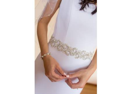 Suknia ślubna Agnes 34/36 prosta elegancka