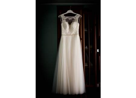 Suknia ślubna ALAINE salon LOVIA r.36/38 154cm+10 obcas
