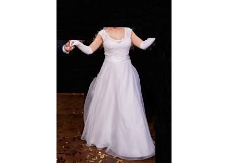 Suknia Ślubna SINCERITY (38 /US Size 10, White, Style 3912)