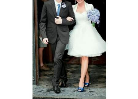 Suknia ślubna krótka r.38